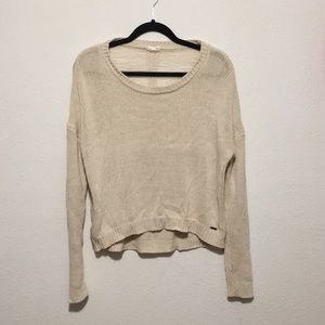 Sweaters - Cream seater with open back